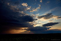 Feuerwachturm Jerischke Sonnenuntergang