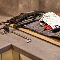 Arbeitsplatz Küchenmontage