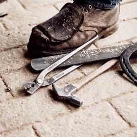 Arbeitsplatz Werkzeug Hufschmied